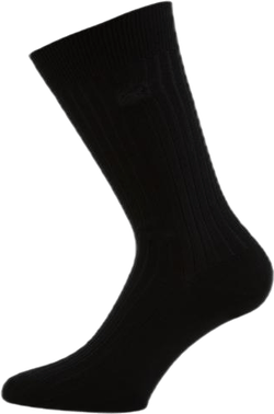 Cotton Crew Socks Black