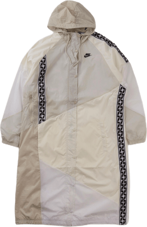 Taped Woven Long Jacket White