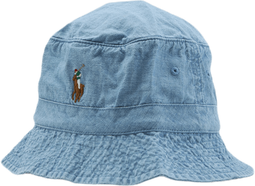 Chambray Bucket Hat Blue