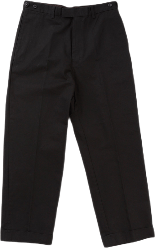 Wide Trousers Twill Navy Blue
