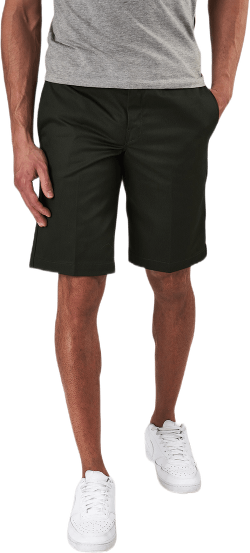 11´ Slim Straight Work Shorts Green