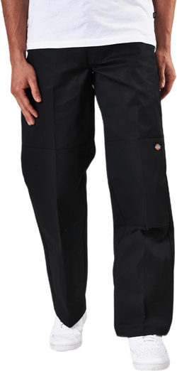 Double Knee Work Pants Black
