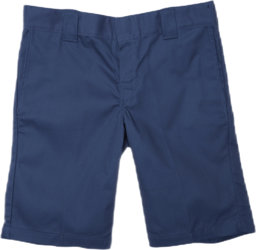 11´ Slim Straight Work Shorts Blue