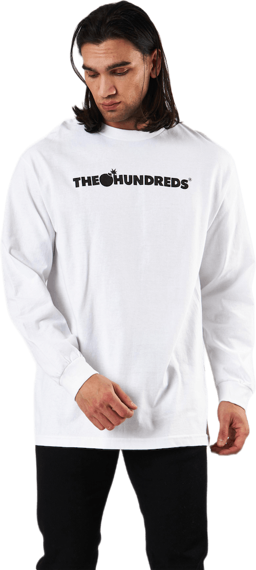 Forever Bar Logo Long Sleeve T White