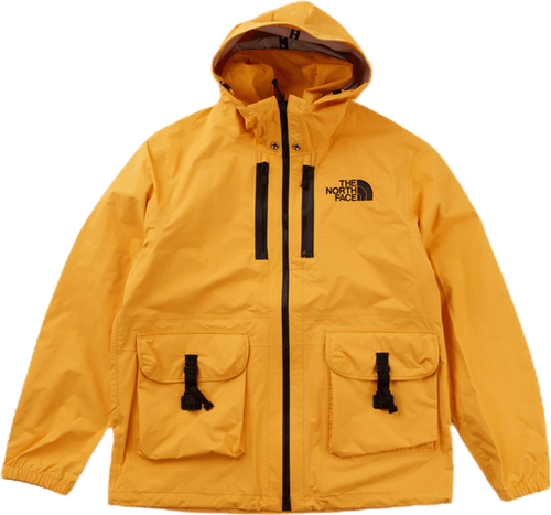 Double Cargo Hooded Jacket Yellow
