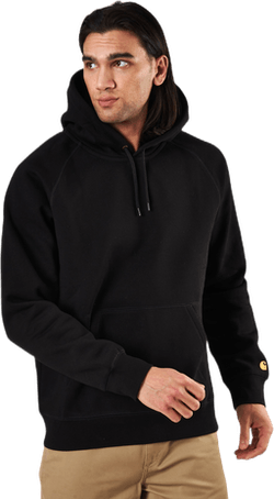 Hooded Chase Sweat Black / Gold