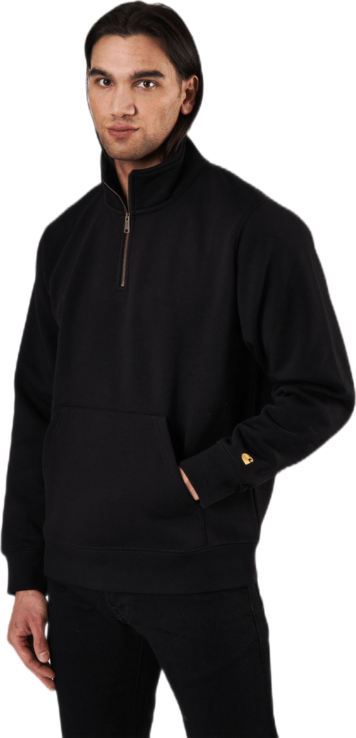 Chase Neck Zip Sweat Black / Gold