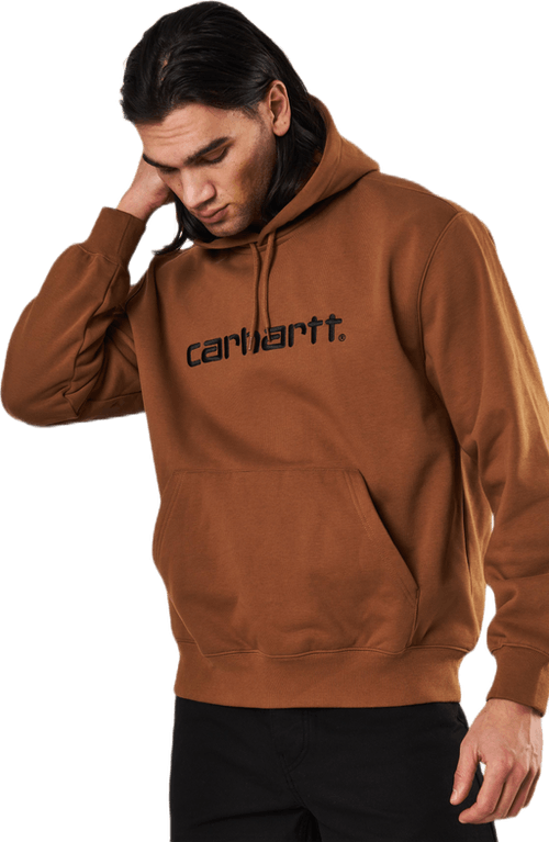 Hooded Carhartt Sweat Hamilton Brown / Black