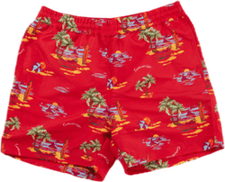 Drift Swim Trunk Beach Print, Etna Red /---