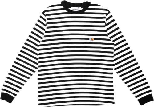 L/s Scotty Pocket T-shirt Scotty Stripe, Black / White /