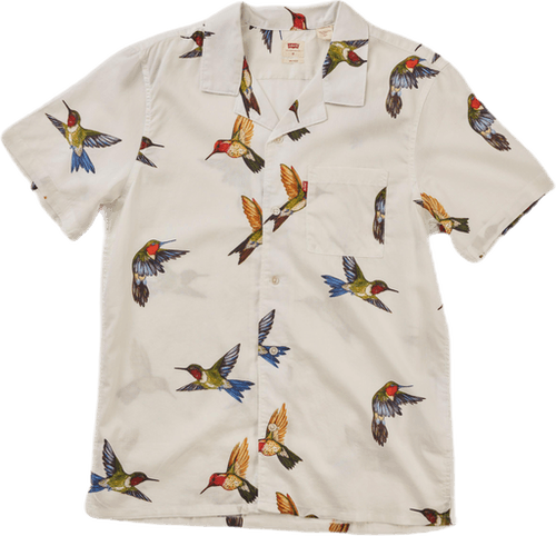 Cubano Shirt Hummingbird Bright White