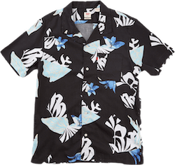 Cubano Shirt Collage Floral Cashmere Blue