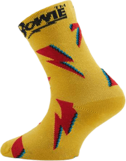 Flashy Bowie Kids Sock Yellow