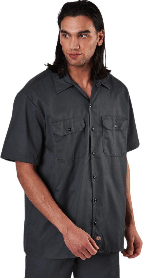 Short Sleeve Work Shirt Charcoal Grey