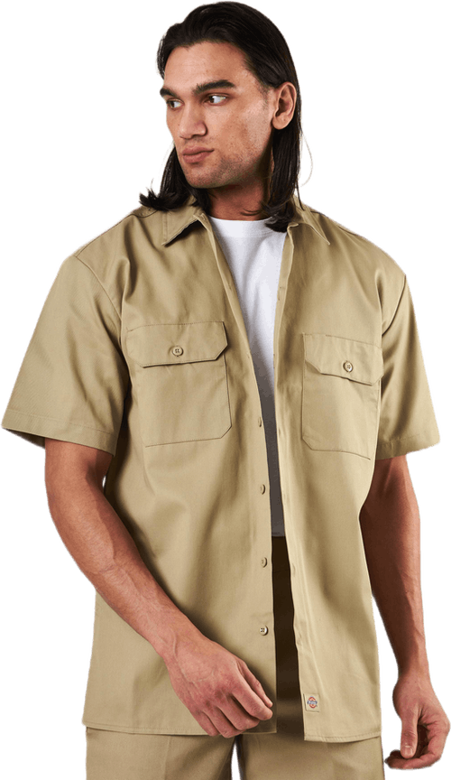 Short Sleeve Work Shirt Khaki