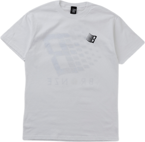 Smiley B Logo Tee Back & Front White