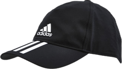 Baseball 3 Stripes Cap Svart/vit