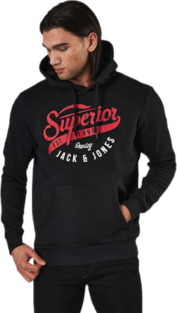 Elogo Sweat Hood Black