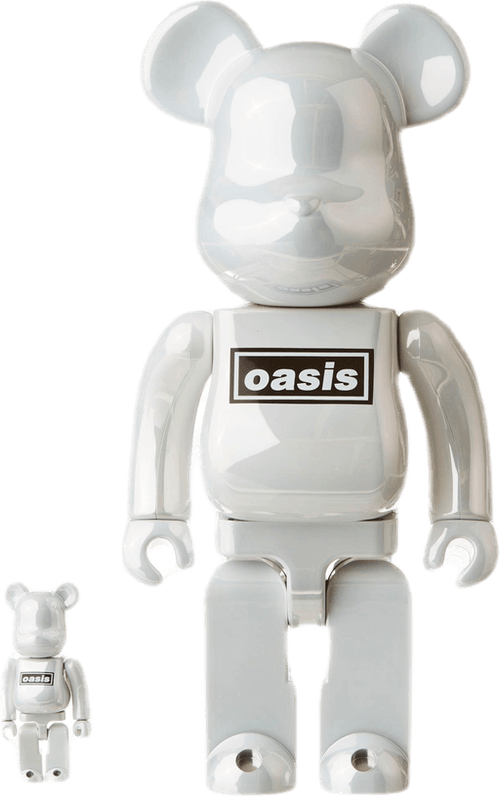 Be@rbrick Oasis Chrome 400%set White