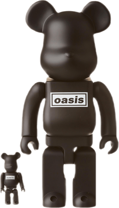 Be@rbrick Oasis  400%set Black Rubber Coating