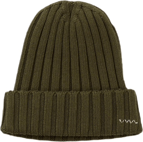 Knit Cap Cotton Olive