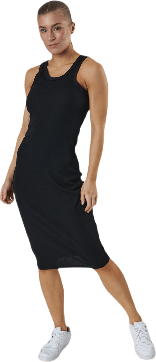 Hazel Rib Tank Dress Black