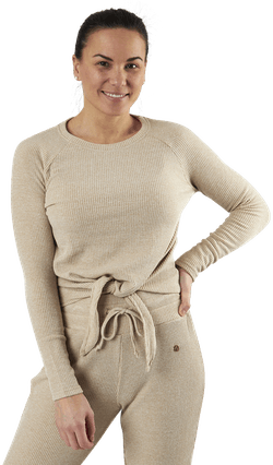 Studio Rib Sweater Beige