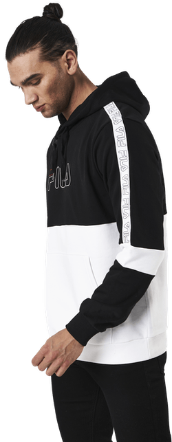 Jadon Blocked Tape Hoody  Black