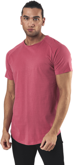 Curved Tee Ss O-Neck Red