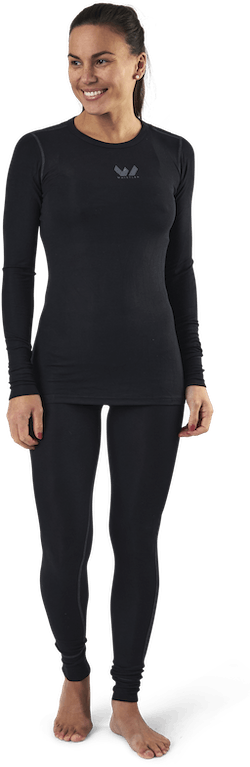 Jenna Bamboo Baselayer Set Black