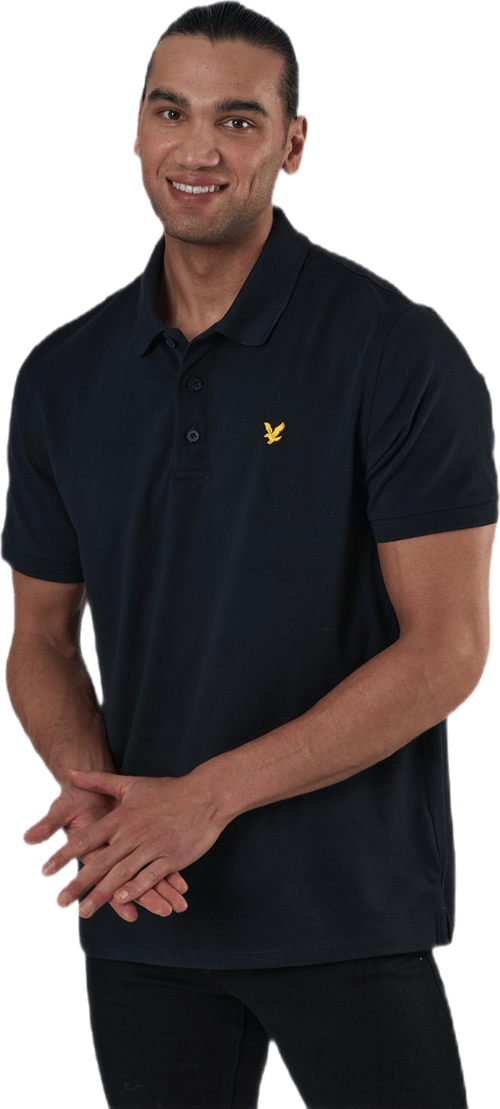 Sleeve Logo Polo Black