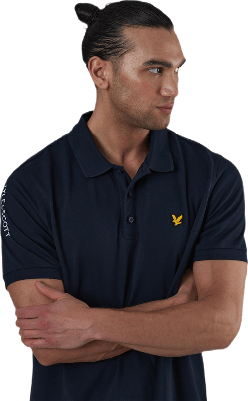 Sleeve Logo Polo Blue