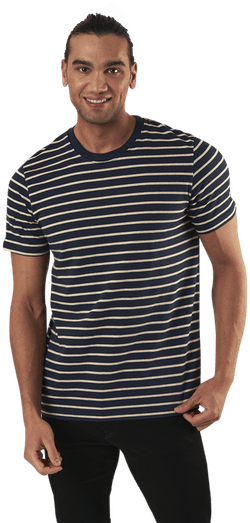 Striped Tee Ss Crew Neck Blue