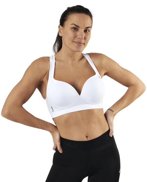 Martine Seamless Sports Bra White