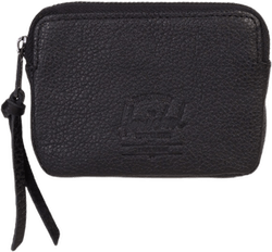 Oxford Pouch Leather Wallet Black