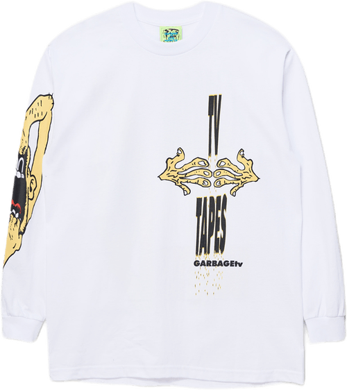Mind Control L/s Tee White