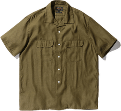 Short Sleeve Open Collar Coolm Green