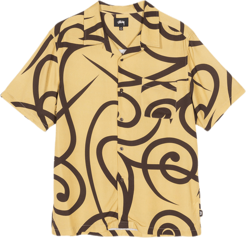 Tribal Pattern Shirt Yellow