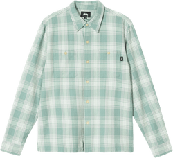 Beach Plaid Shirt Green