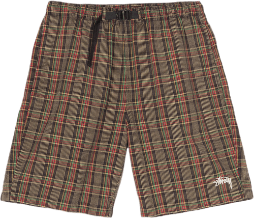 Plaid Mountain Short Black