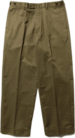 Wide Trousers 80/3 Twill Cotto Green