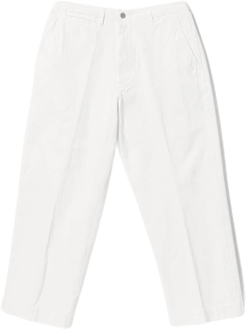 Mil Trousers Herringbone White White