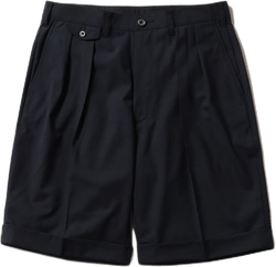 2pleats Short Pants Wool Tropi Blue