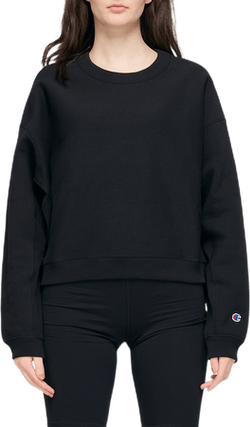 Sleeve Logo Crewneck Sweatshir Black