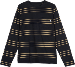 Trinity Stripe Long Sleeve Cre Black