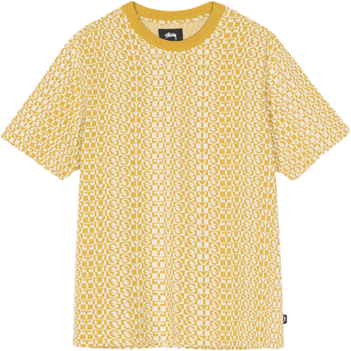 Check Crewneck Yellow