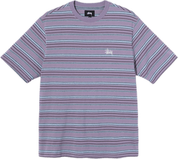Heather Stripe Crewneck Purple