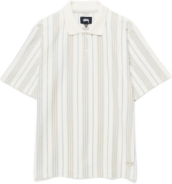 Revival Stripe Polo White