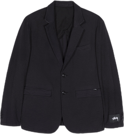 Seersucker Sport Coat Black