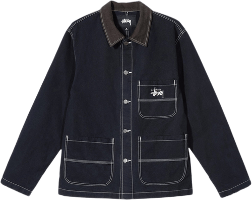 Brushed Moleskin Chore Jacket Blue